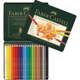 "Faber Castell Color Pencils ""Polychromos""  Tin of 24"