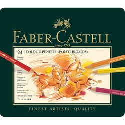 "Faber Castell Color Pencils ""Polychromos""  Tin of 24 - ucoomy"