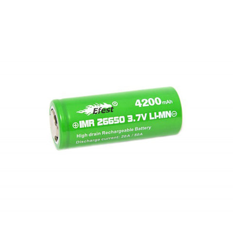 Efest 26650 Green 4200 mAh High Discharge Flat Top Battery