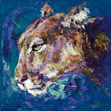 Cougar fine art print, limited edition canvas giclee