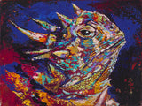 Horned Frog Y'all fine art print, limited edition canvas giclee