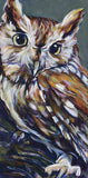 Owl fine art print, limited edition canvas giclee