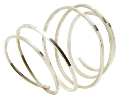 WRAPT large silver bangle