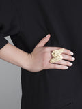 'jealous, much?' large gold ring