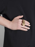 'jealous, much?' gold ring