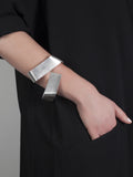 Wait here.  Help is on the way.   wide silver cuff