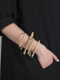 'jealous, much?' statement gold cuff