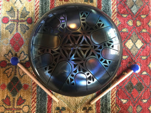 12 inch A minor 432 Hz Sacred Blue Healing Drum