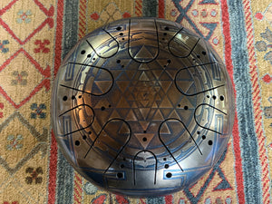 15 inch F# Major 432 Hz Sri Yantra Drum
