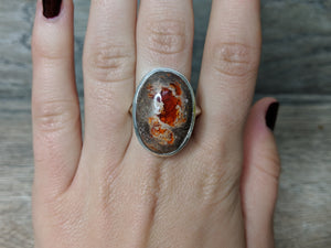 Affirmation Mexican Fire Opal Ring