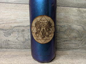 Sri Yantra Elephant Walnut Sticker