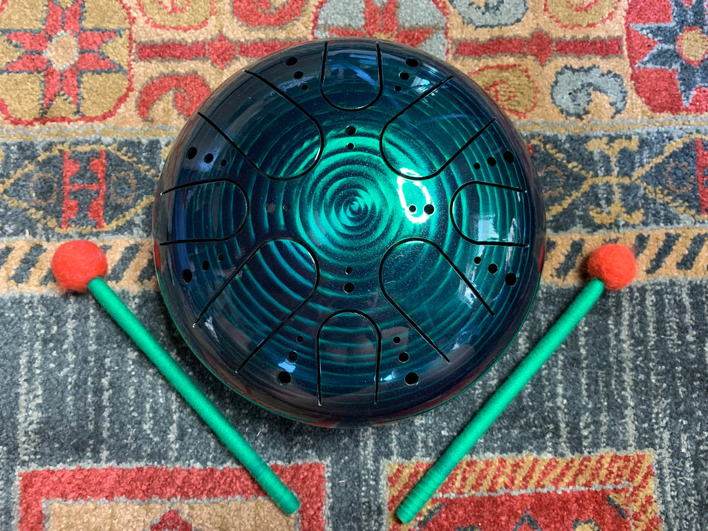 9 inch b minor 432 Hz Emerald Green Healing Drum
