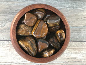 Gold Tiger's Eye Palm Stone