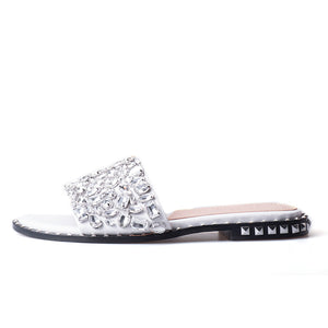 Transparent diamond rhinestone slippers