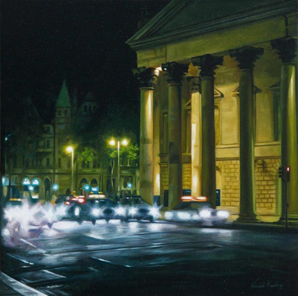 Painting of College Green, Dublin 2