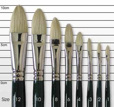 Winton oil painting brushes