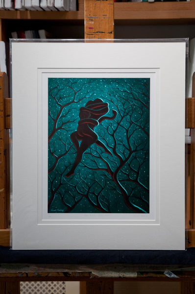 Adam & Eve - Starry Night - medium print includes mount!