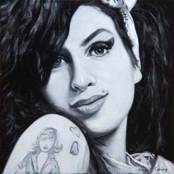 Giclee print of Amy Winehouse