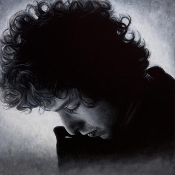 Portrait painting of Bob Dylan on canvas