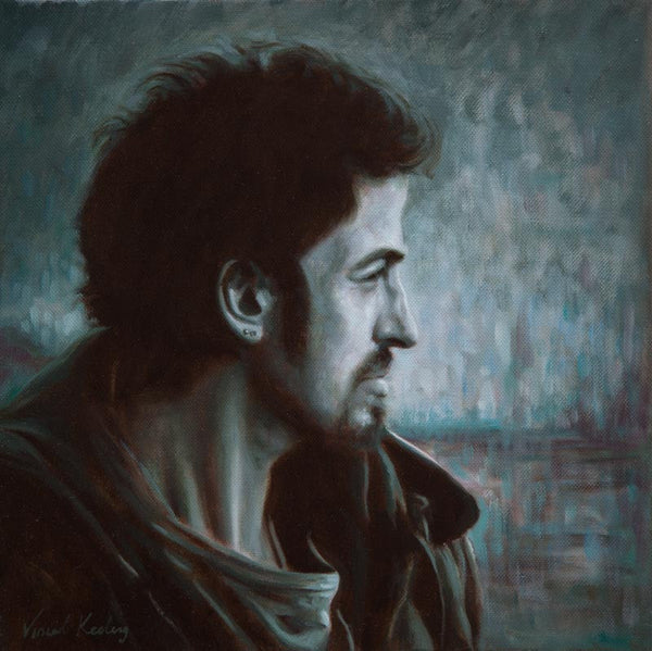 Oil painting of Bruce Springsteen from Philadelphia