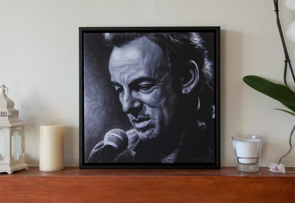 2 - BRUCE SPRINGSTEEN, WRECKING BALL - Canvas Print with Floating Frame