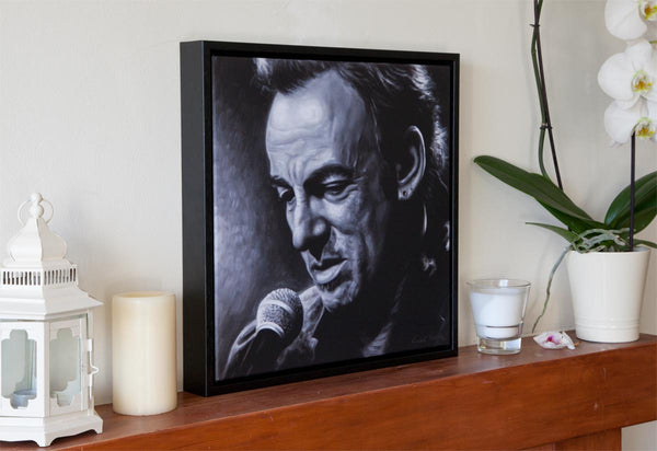1 - BRUCE SPRINGSTEEN, WRECKING BALL - Canvas Print with Floating Frame