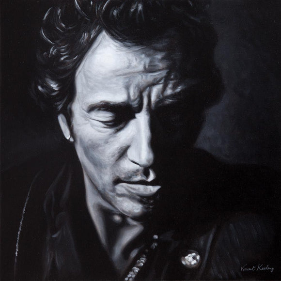 0 - Bruce Springsteen, The Boss - Canvas Print with Floating Frame