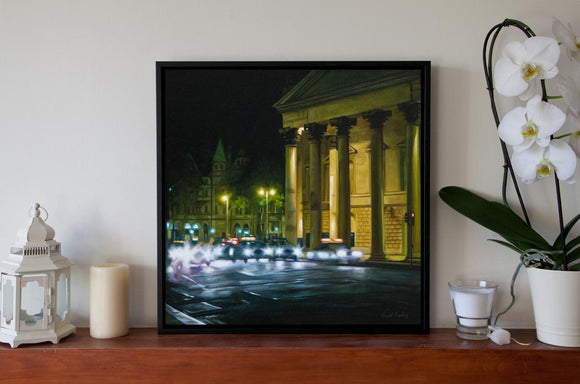 College Green, Dublin City - Canvas Print with Floating Frame