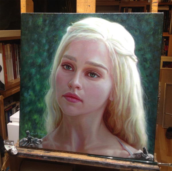 Emilia Clarke - Daenerys Targaryen - Original Painting - AVAILABLE