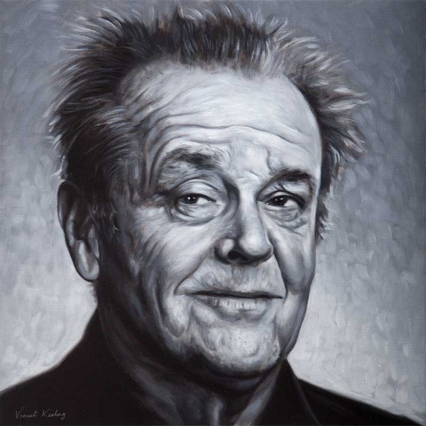 Giclee fine art print of Jack Nicholson, from oil painting, by Vincent Keeling
