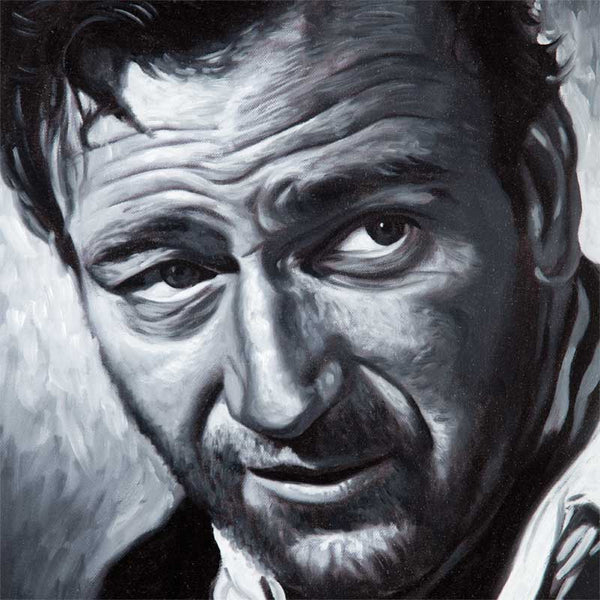 Fine art print, of actor John Wayne, from original portrait, by Vincent Keeling