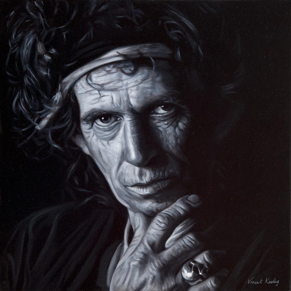 1 - KEITH RICHARDS - Canvas Print with Floating Frame