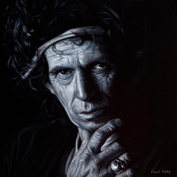 1 - Keith Richards - Original Oil Painting - €750 - SOLD