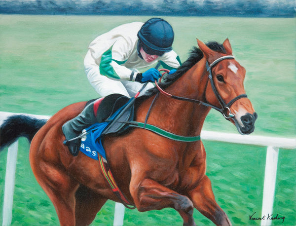 Lambro - Oil painting of a race horse