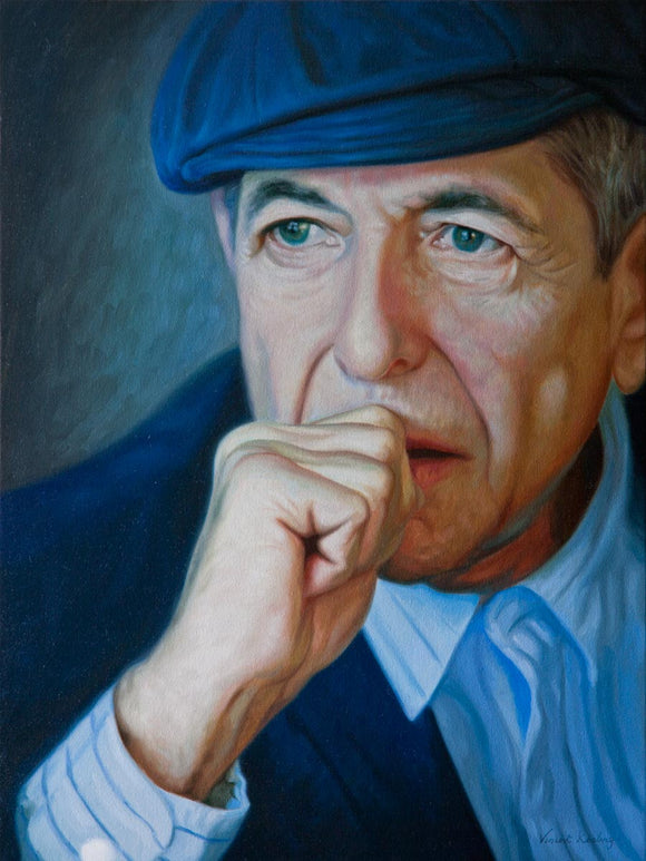 1 - Leonard Cohen, Bird on the Wire - Framed Canvas Print - Ed of 50