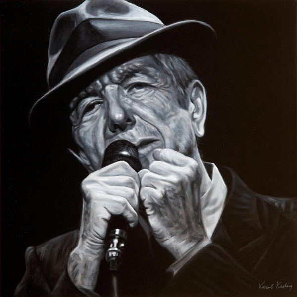 1 - Leonard Cohen, I'm Your Man - Original Oil Painting - SOLD
