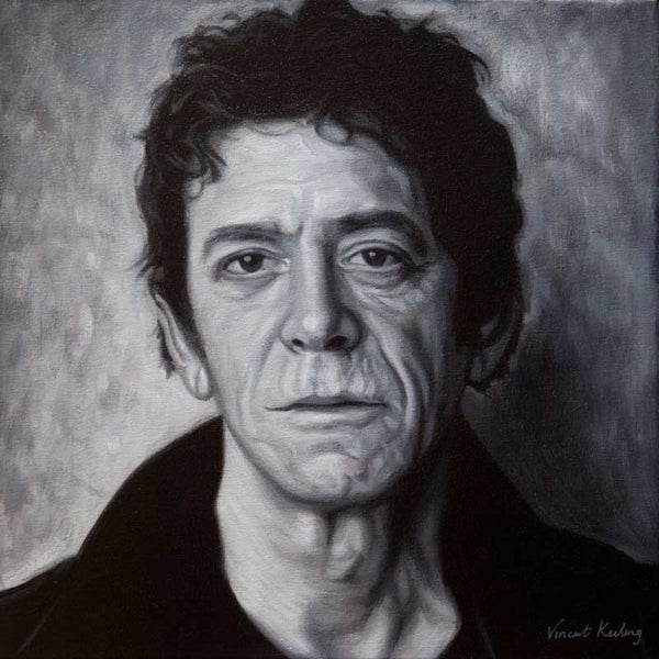 Fine art print of Lou Reed, from portrait painting, by Vincent Keeling