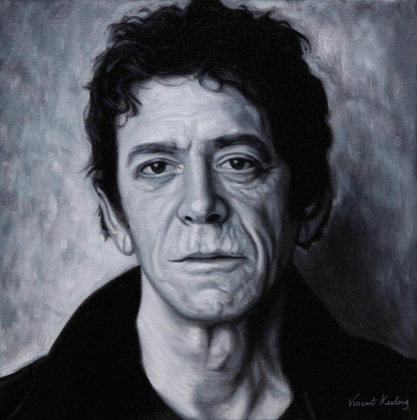 oil painting of Lou Reed by Vincent Keeling