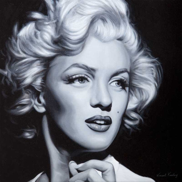 Giclee black and white print of Marilyn Monroe