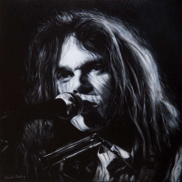 Giclee print of Neil Young, from a portrait by Vincent Keeling