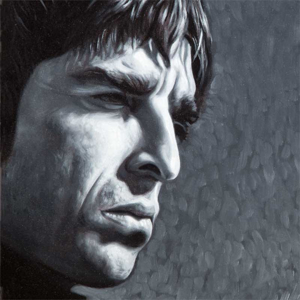 Fine art print, of Noel Gallagher from Oasis, from portrait painting, by artist Vincent Keeling