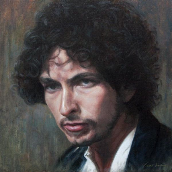 Bob Dylan: A portrait in colour - Oil Painting - SOLD