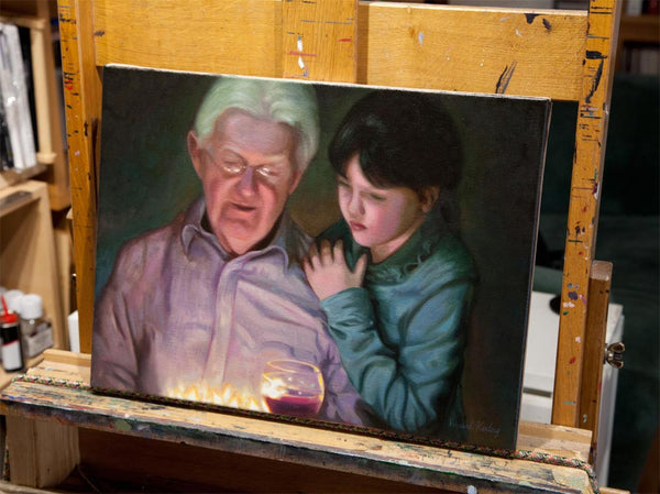 1 - Portrait of Granddad and Granddaughter