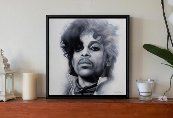 1 - PRINCE - PURPLE RAIN - Canvas Print with Floating Frame