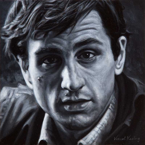 Giclee print of a young Robert de Niro, from oil painting, by Vincent Keeling