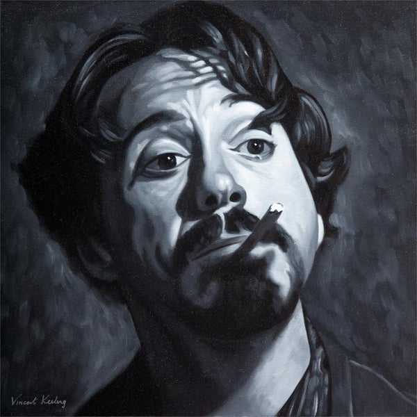 Fine art print, of Actor Robert Downey Junior, from a portrait painting, by Vincent Keeling