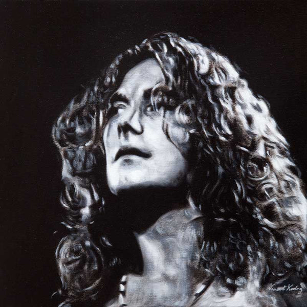 Print of Robert Plant, from Led Zeppelin, from portrait painting