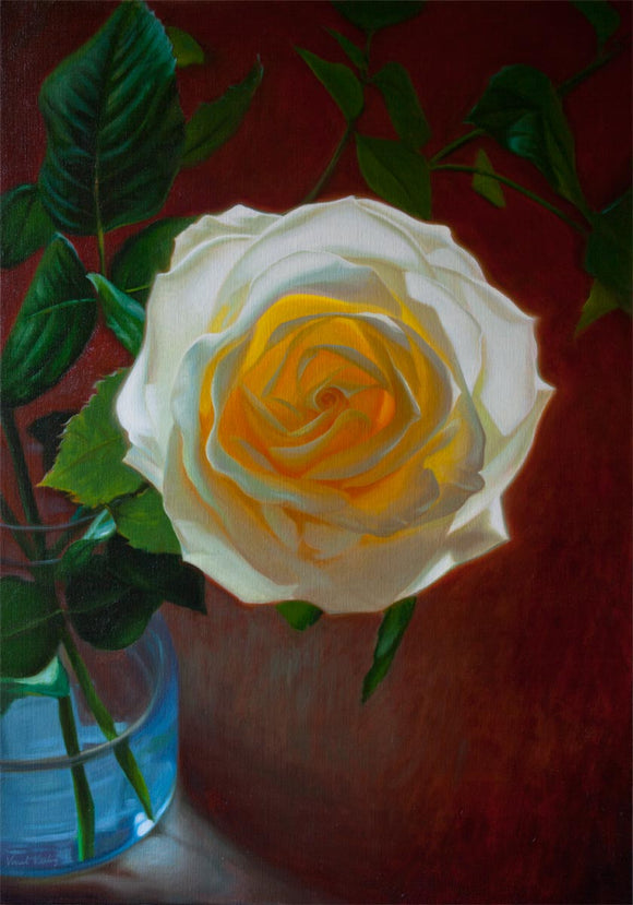 0 - Solar Rose II - Oil Painting