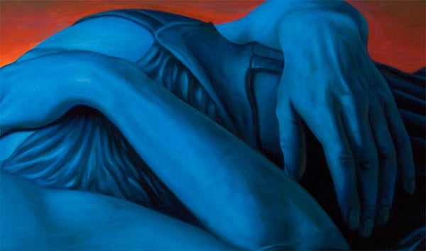 3 - The Blue Lady - oil painting