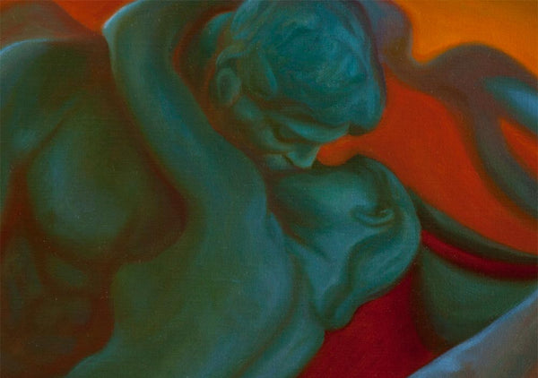 0 - The Unfolding Kiss - Oil Painting